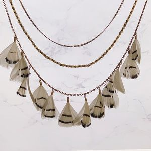 Anthropologie | Feather Necklace